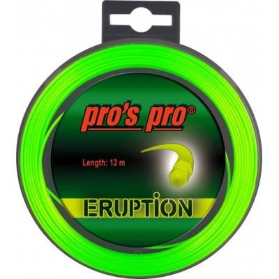 Струны теннисные Pros Pro ERUPTION 1.18 мм 12 m (неоново-зелёные)
