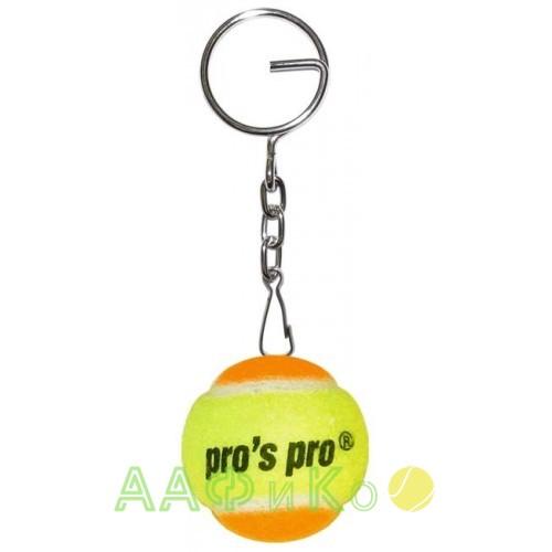 Брелок «Теннисный мяч» желто/оранжевый