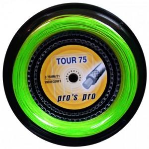 Струны для бадминтона PROS PRO Tour 75 100 m неон зеленый