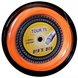 Струны для бадминтона PROS PRO Tour 75 100 m неон оранжевые