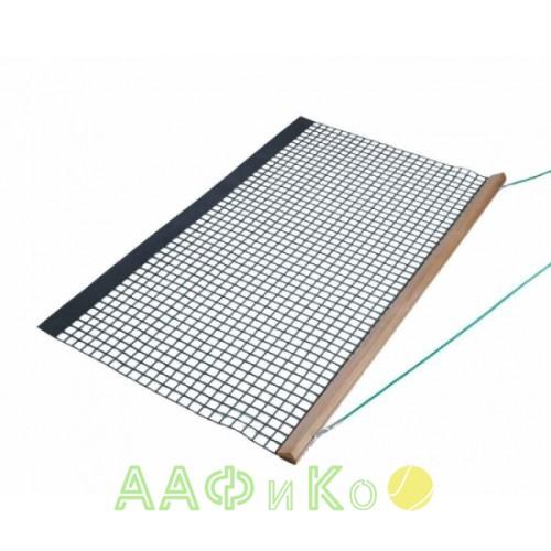 Коврик для уборки теннисного корта Wooden Drag Net, Single PVC