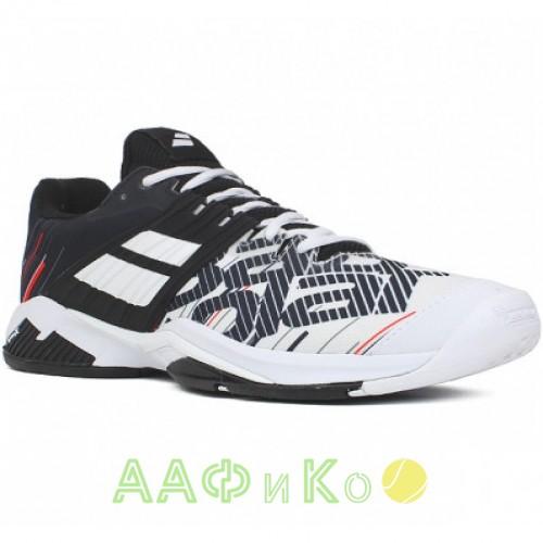 Кроссовки теннисные Babolat PROPULSE FURY AC M (белый/чёрный)