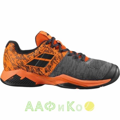 Кроссовки теннисные Babolat PROPULSE BLAST AC M (чёрный/оранжевый)