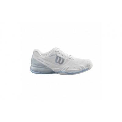 Кроссовки теннисные женские Wilson Rush Pro 2.5 (белый/голубой)