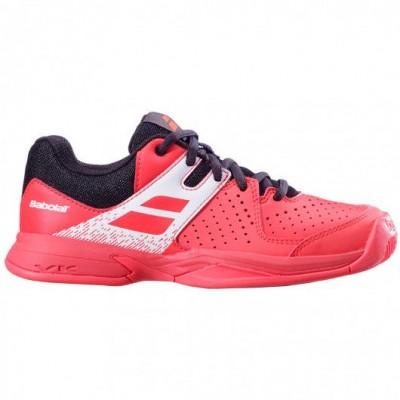 Кроссовки теннисные Babolat PULSION ALL COURT JR (красный/чёрный)