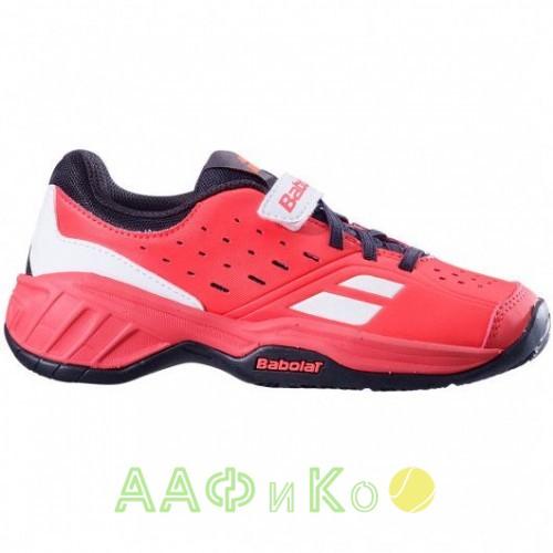 Кроссовки теннисные Babolat PULSION ALL COURT KID (красный/чёрный)