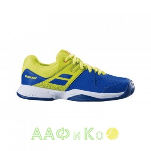 Кроссовки теннисные Babolat PULSION ALL COURT JR (синий/ярко-жёлтый)