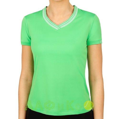 Майка спортивная Wilson Team V-Neck Tee Women (зелёный)