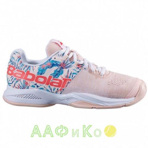 Кроссовки теннисные Babolat PROPULSE BLAST AC W (серебристо-розовый)