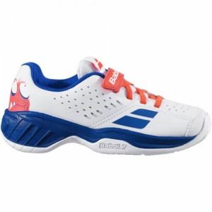 Кроссовки теннисные Babolat PULSION AC KID (белый/синий)