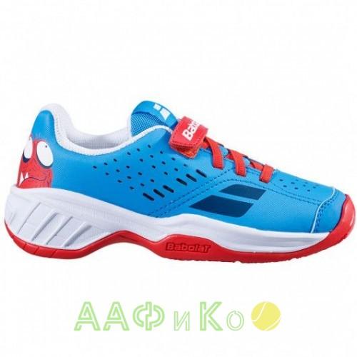Кроссовки теннисные Babolat PULSION AC KID (красный/синий)
