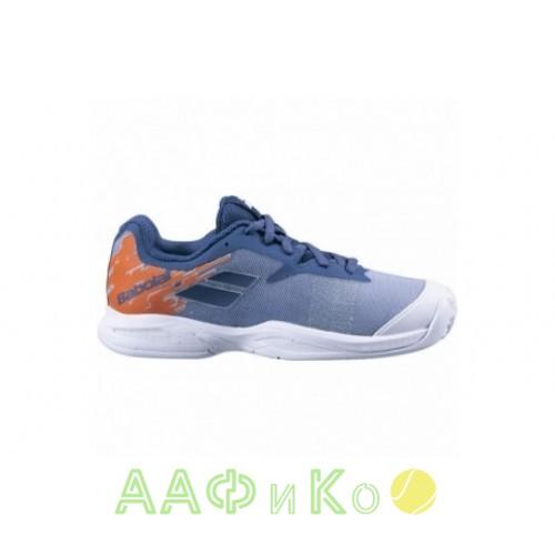 Кроссовки теннисные Babolat   JET CLAY JR (белый/оранжевый)