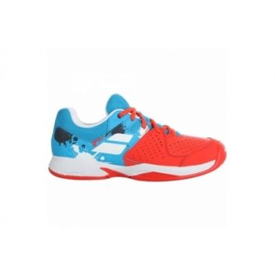 Кроссовки теннисные Babolat PULSION CLAY JR (красный/синий)