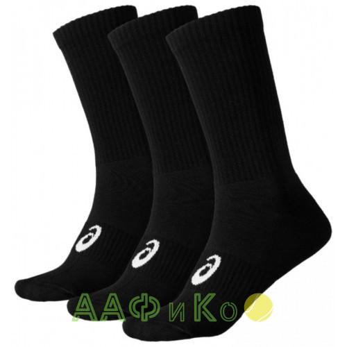 Носки спортивные Asics Crew Sock 3 пары в упаковке (чёрные)