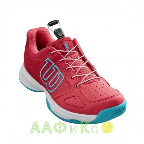Кроссовки теннисные детские Wilson KAOS JR QL (розовый/белый/голубой)