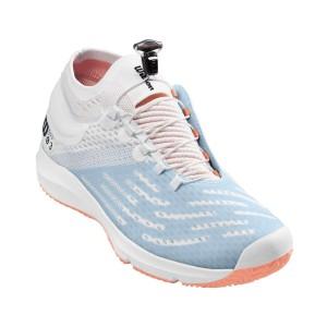Кроссовки теннисные женские Wilson KAOS 3.0 SFT (белый/голубой/розовый)