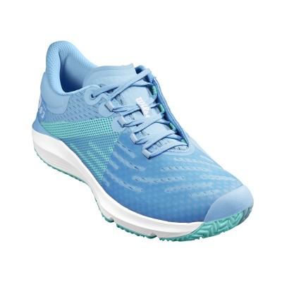 Кроссовки теннисные женские Wilson KAOS 3.0 (белый/голубой)