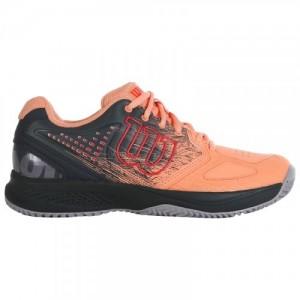 Кроссовки теннисные женские Wilson KAOS COMP 2.0 (персиковый/чёрный)