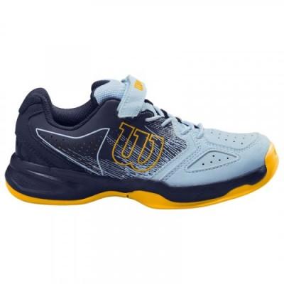 Кроссовки теннисные детские Wilson KAOS K (синий/жёлтый)