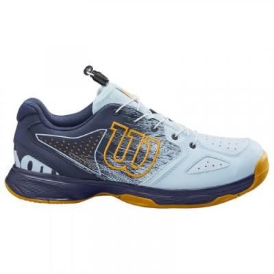 Кроссовки теннисные детские Wilson KAOS JR QL (синий/жёлтый)