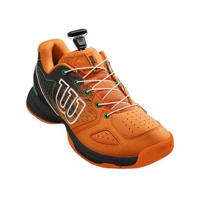 Кроссовки теннисные детские Wilson KAOS JR QL (чёрный/оранжевый)
