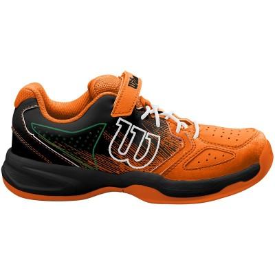 Кроссовки теннисные детские Wilson KAOS K (чёрный/оранжевый)