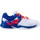 Кроссовки теннисные Babolat PULSION AC JR (белый/синий)