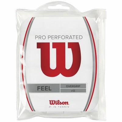 Намотка для теннисных ракеток Wilson PRO OVERGRIP S (12шт/уп.) (белая)