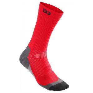 Носки спортивные Wilson Men's High-End Crew Sock 1 пара в упаковке (красный/чёрный)