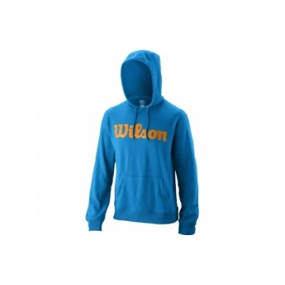 Толстовка спортивная мужская Wilson Script Cotton PO Hoody Men (синий)