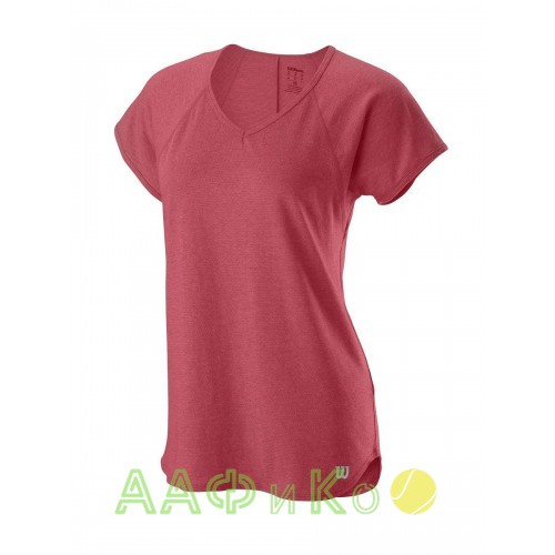 Майка спортивная Wilson Training V-Neck Tee Women (розовая)