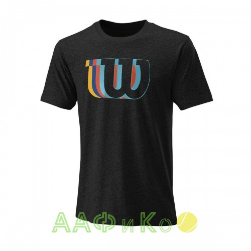 Майка спортивная Wilson Blur W Tech Tee Men (чёрная)