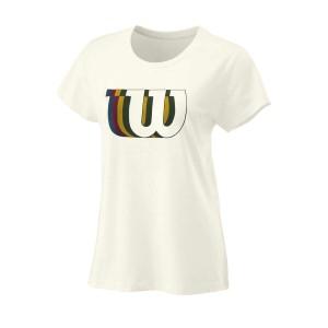 Майка спортивная Wilson Blur W Tech Tee Women (белая)