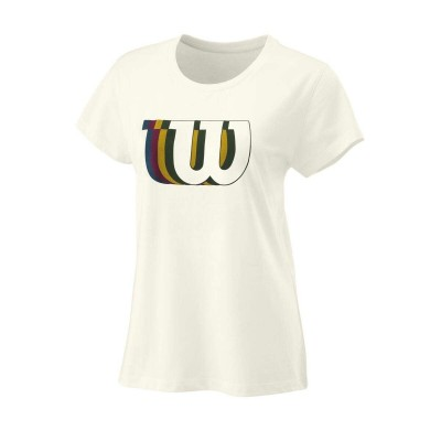 Майка спортивная Wilson Blur W Tech Tee Women (белая)