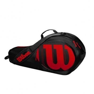 Чехол-сумка для ракеток Wilson Junior 3 Pack (чёрный/красный)