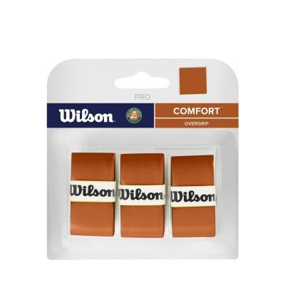 Виброгаситель Wilson Pro Overgrip Roland Garros Clay (3 шт. в упак.), оранжевый