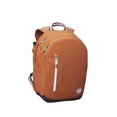 Рюкзак-сумка теннисная Wilson Roland Garros Tour Backpack (белый/оранжевый)