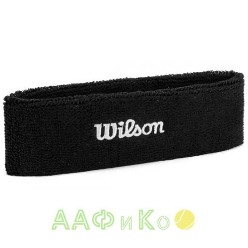 Повязка Wilson Headband для удаления пота (чёрная)