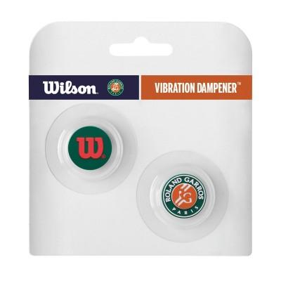 Виброгаситель Wilson Roland Garros Vibra Dampener (2 шт. в упак.), зелёный/оранжевый