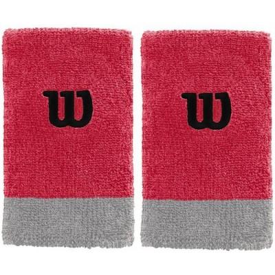 Напульсники Wilson Extra Wide Wristband (красный), 2шт.