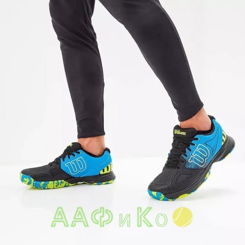 Кроссовки теннисные мужские Wilson KAOS Devo (синий/чёрный)