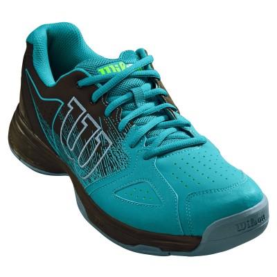 Кроссовки теннисные мужские Wilson KAOS Stroke  (голубой/чёрный)