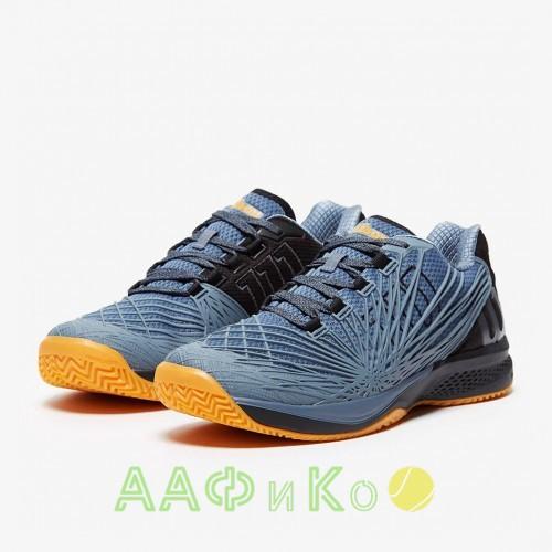 Кроссовки теннисные мужские Wilson KAOS 2.0 (серый/оранжевый)