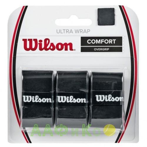 Обмотка для т/ракеток Wilson Ultra Wrap Overgrip (3шт.в уп.), чёрный