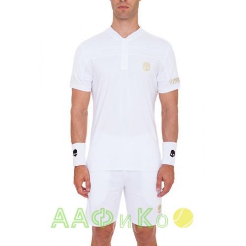 Мужская теннисная футболка HYDROGEN WIMBLEDON SILVER TECH SERAFINO