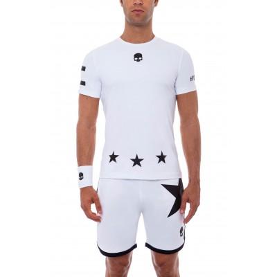 Футболка теннисная мужская HYDROGEN 17 TECH T-SHIRT WHITE MAN LIMITED