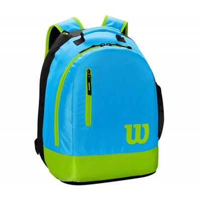 Рюкзак-сумка теннисная Wilson Youth Backpack (голубой/салатовый)