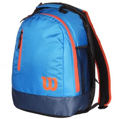 Рюкзак-сумка теннисная Wilson Youth Backpack (синий/оранжевый)