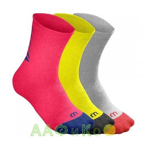 Носки спортивные Wilson Youth Seasonal Crew Sock 3 пары в упаковке