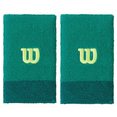 Напульсники Wilson Extra Wide Wristband (зелёный), 2шт.
